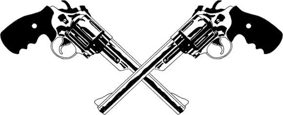 Colt 45 Revolver Clipart.