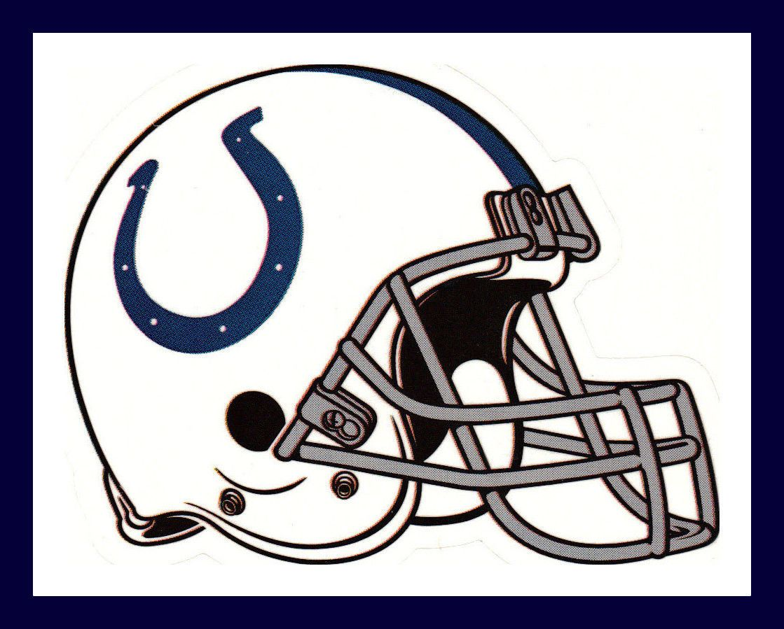 Details about INDIANAPOLIS COLTS FOOTBALL NFL HELMET DECAL.