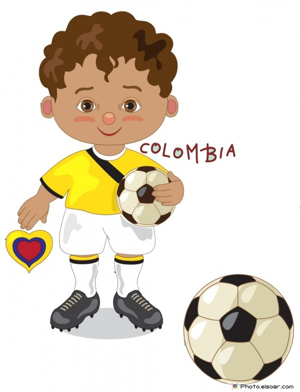 Brazil National Jersey, Cartoon Soccer Player.