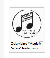 The old Columbia Records Logo.
