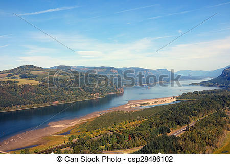 Columbia river gorge clipart.