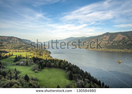 Columbia River Gorge Stock Photos, Royalty.
