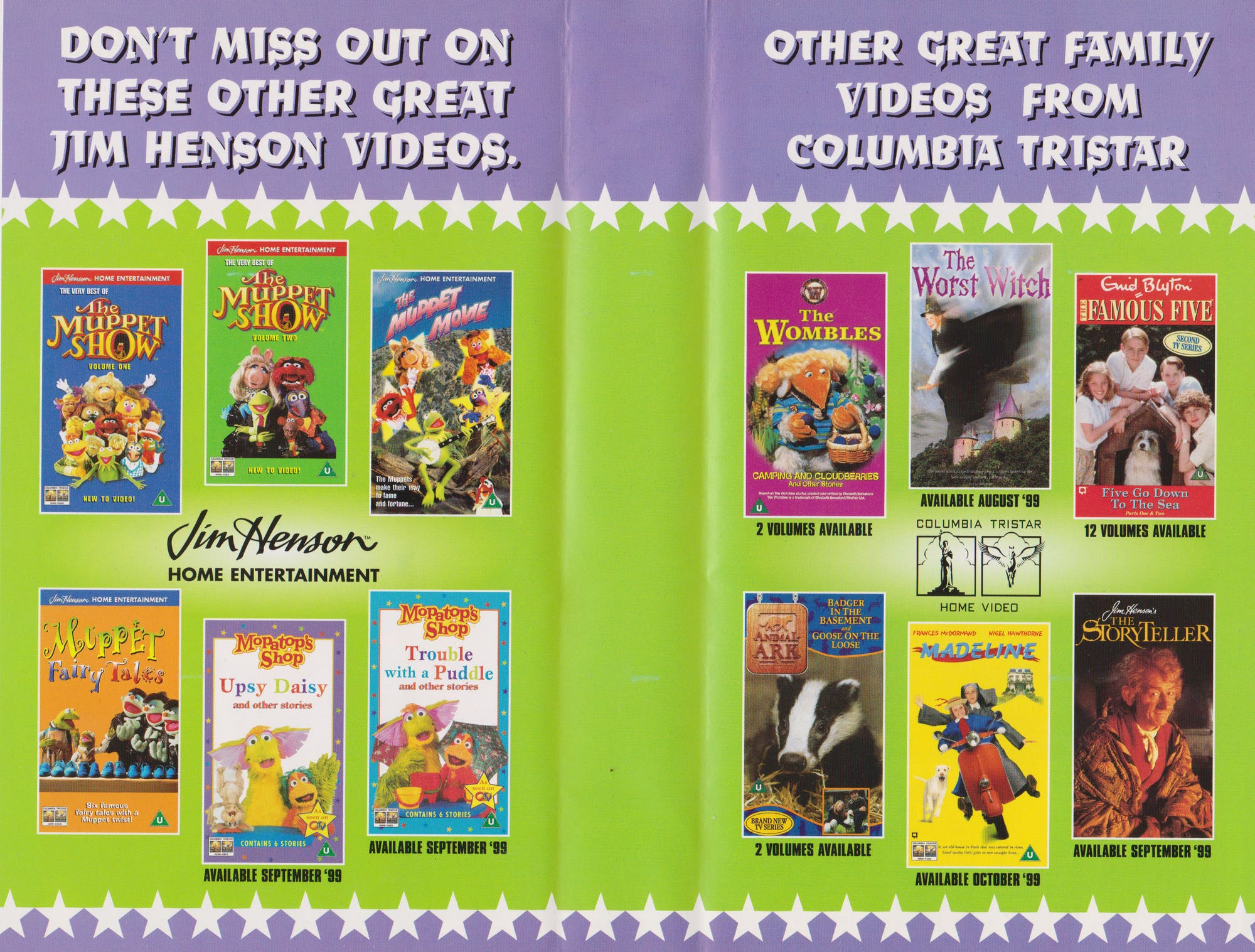 Jim Henson Home Entertainment & Columbia TriStar Home Video.