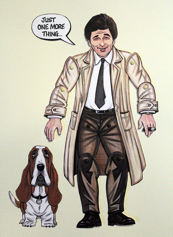 Columbo Articulated Paper Doll Inspired by by ArdentlyCrafted.