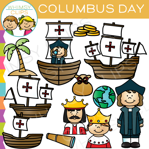 Columbus Day Clip Art , Images & Illustrations.