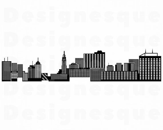 Columbus Skyline SVG, Ohio Svg, City Svg, Skyscraper Svg.