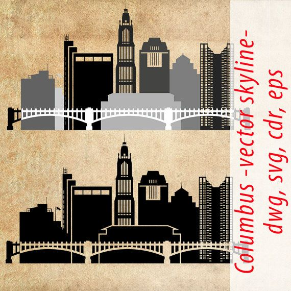 Columbus Ohio SVG, Columbus Clipart City Silhouette.