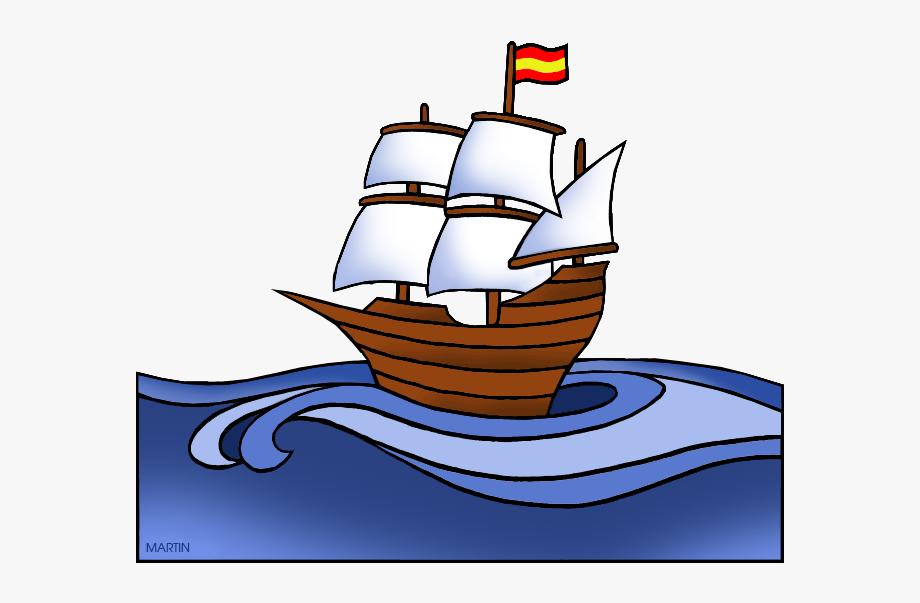 Explorers Clip Art By Phillip Martin, Spanish Ship.