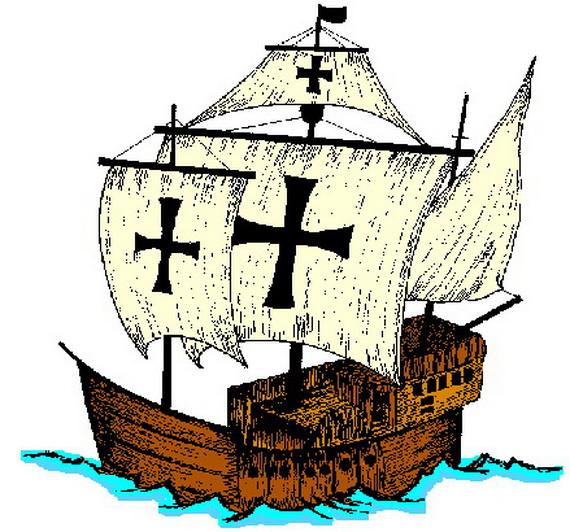 Columbus Ship Clipart.