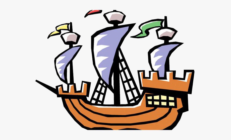 Sailing Ship Clipart Labor Day.