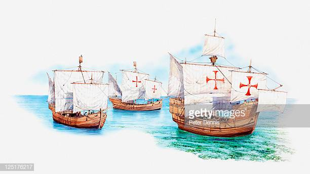 44 Replica Santa Maria Ship Stock Illustrations, Clip art, Cartoons.