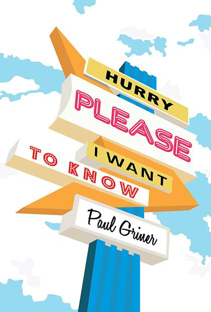 """Writer Paul Griner at work on """"Hurry Please"""" follow."""