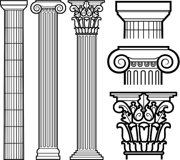 Best Architectural Column Illustrations, Royalty.