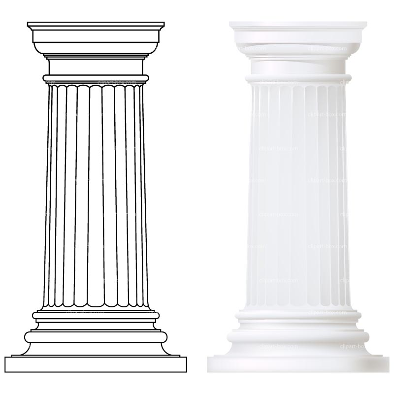 Greek Columns Clipart.