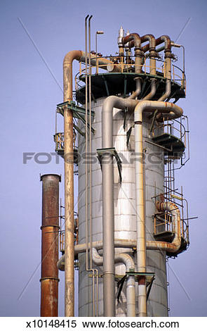 Stock Image of Top of distillation column x10148415.