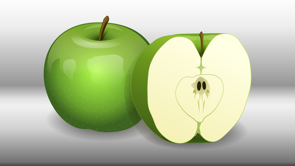 Free vector graphic: Apple, Green, Fruit, Food, Healthy.