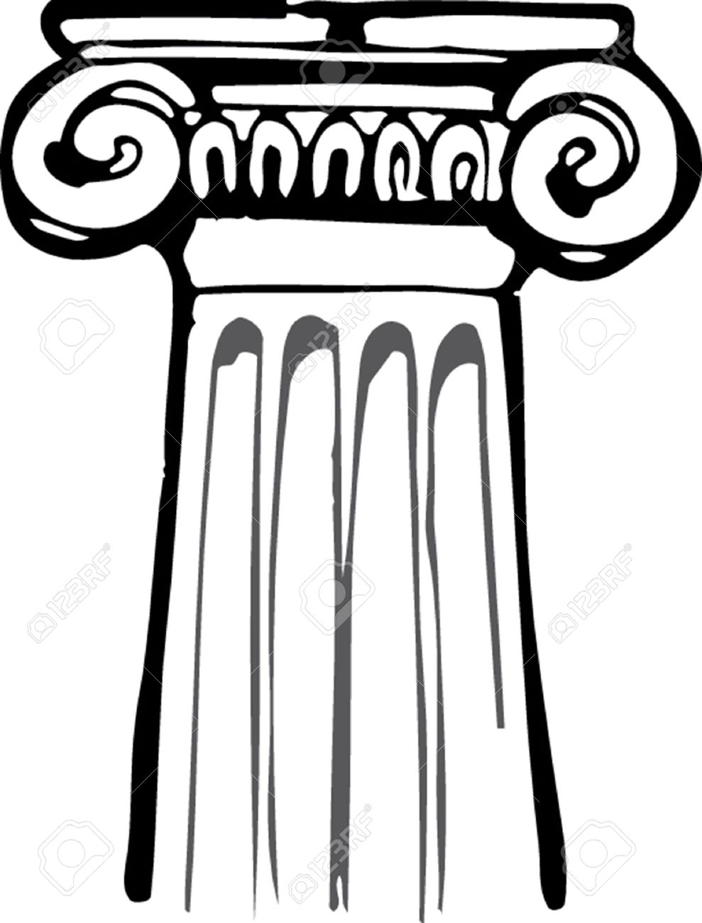 how to draw greek columns