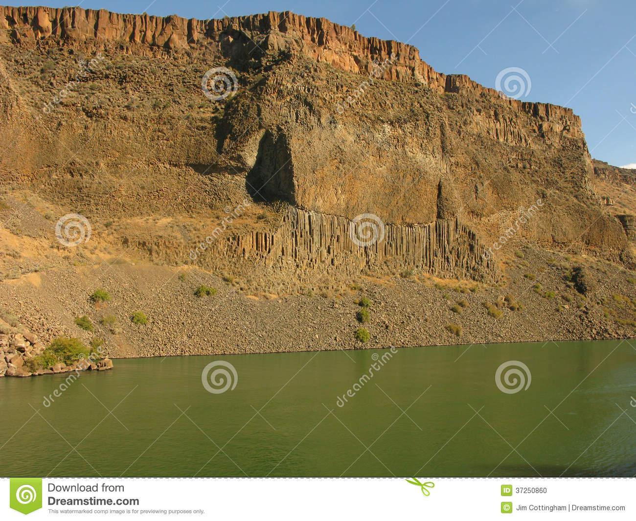 Columnar Basalt Wall Stock Images.