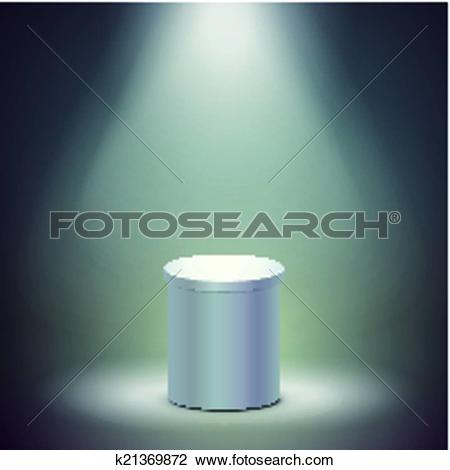 Clipart of blank columnar stage k21369872.