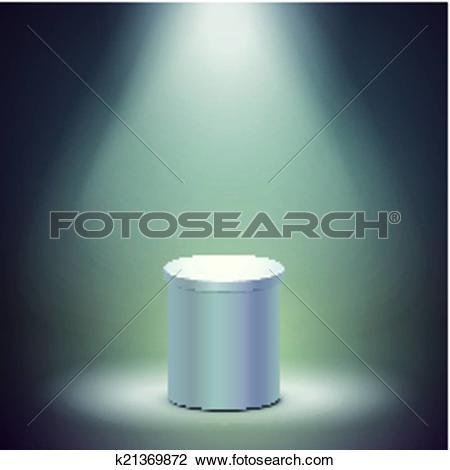 Clipart of blank columnar stage k21369872.