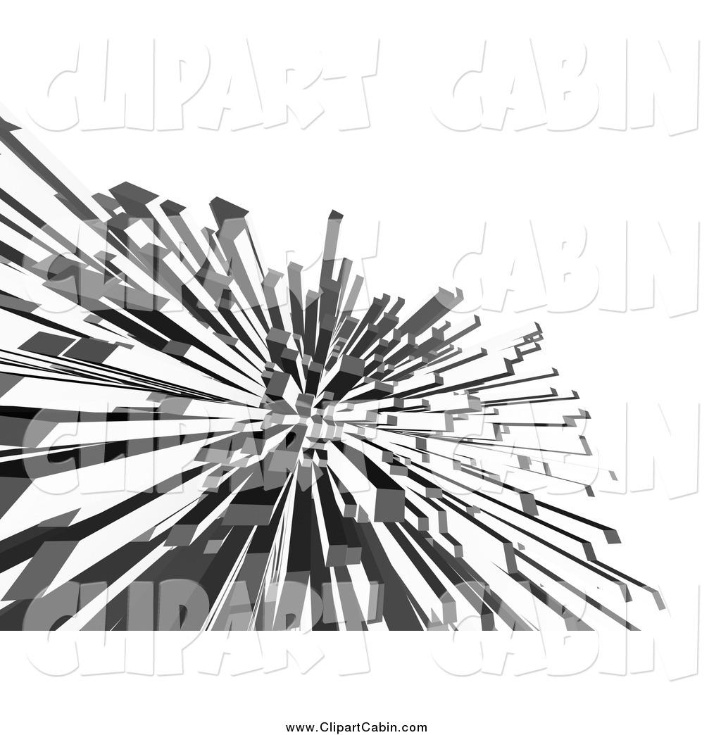 Clip Art of 3d Columnar Shards on White by chrisroll.