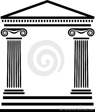 Greek Columns Clip Art.
