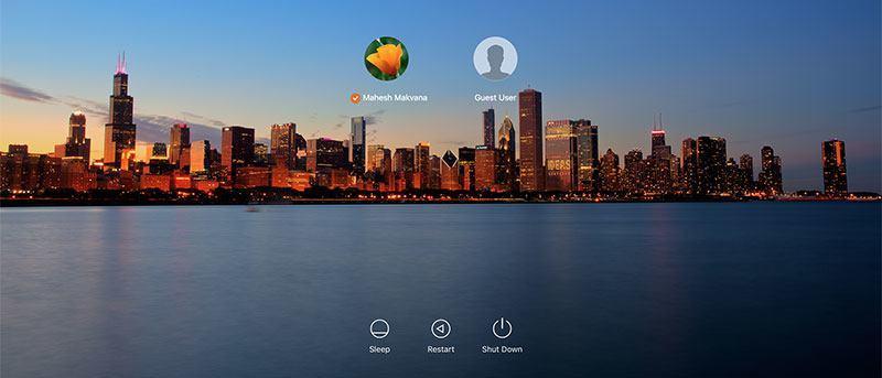 Change the Login Screen Wallpaper in OS X El Capitan.