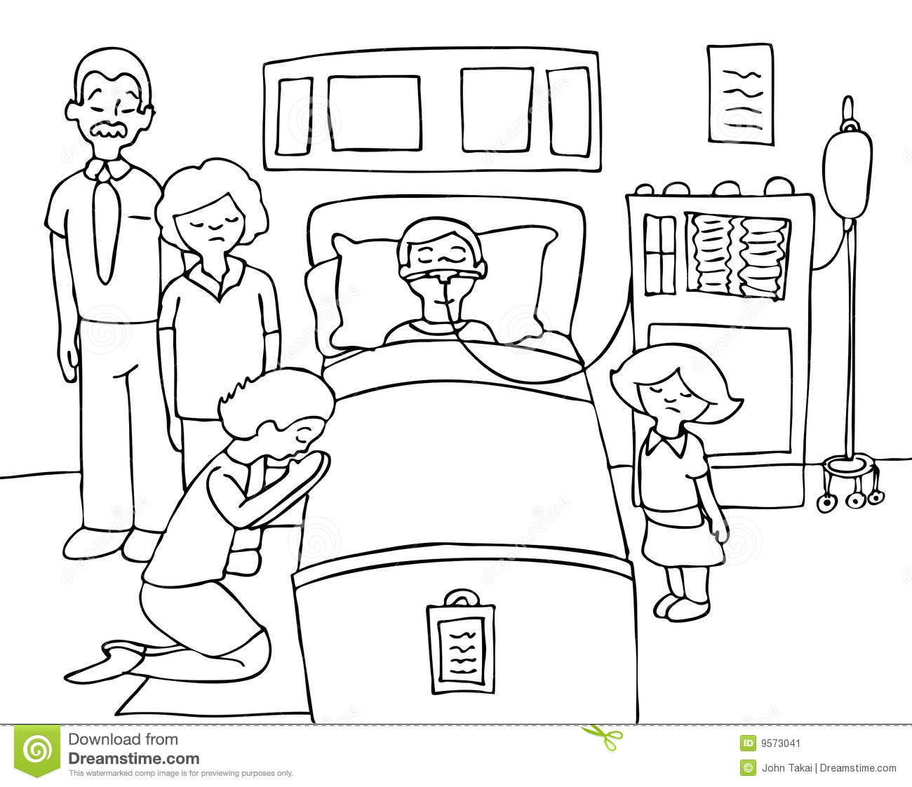Clip Art Person In A Coma Clipart.