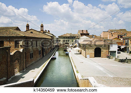 Stock Photograph of View of Comacchio k14350459.