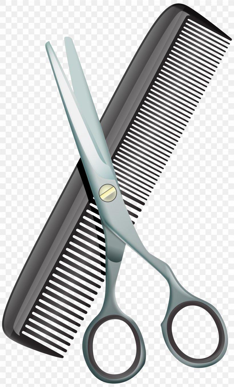 Comb Scissors Hair.