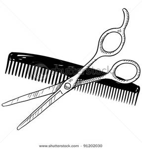 Shears And Comb Clipart.