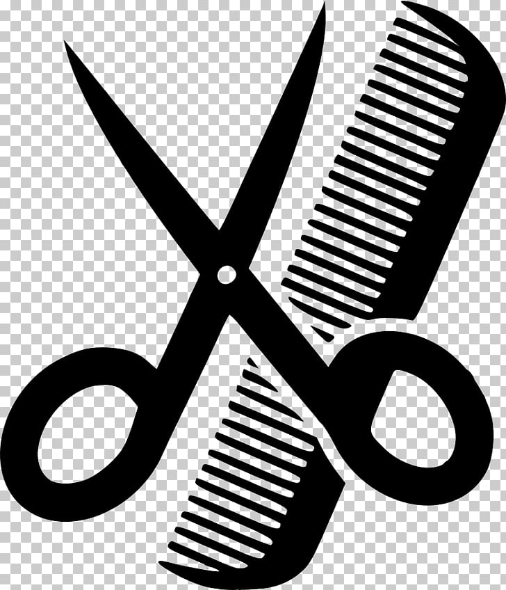 Comb Beauty Parlour Scissors Hair.