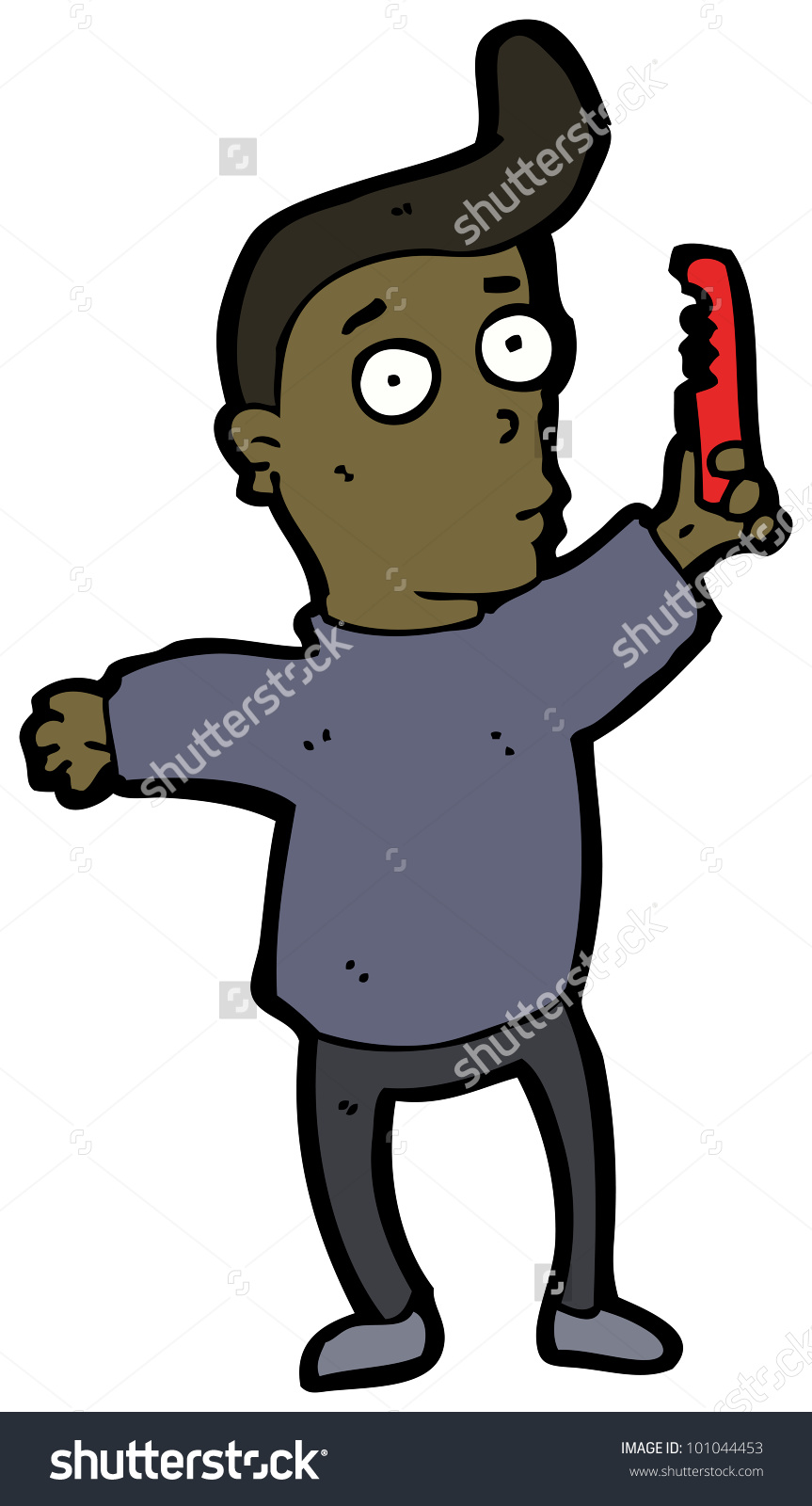 Cartoon Man Combing Hair Stock Photo 101044453 : Shutterstock.