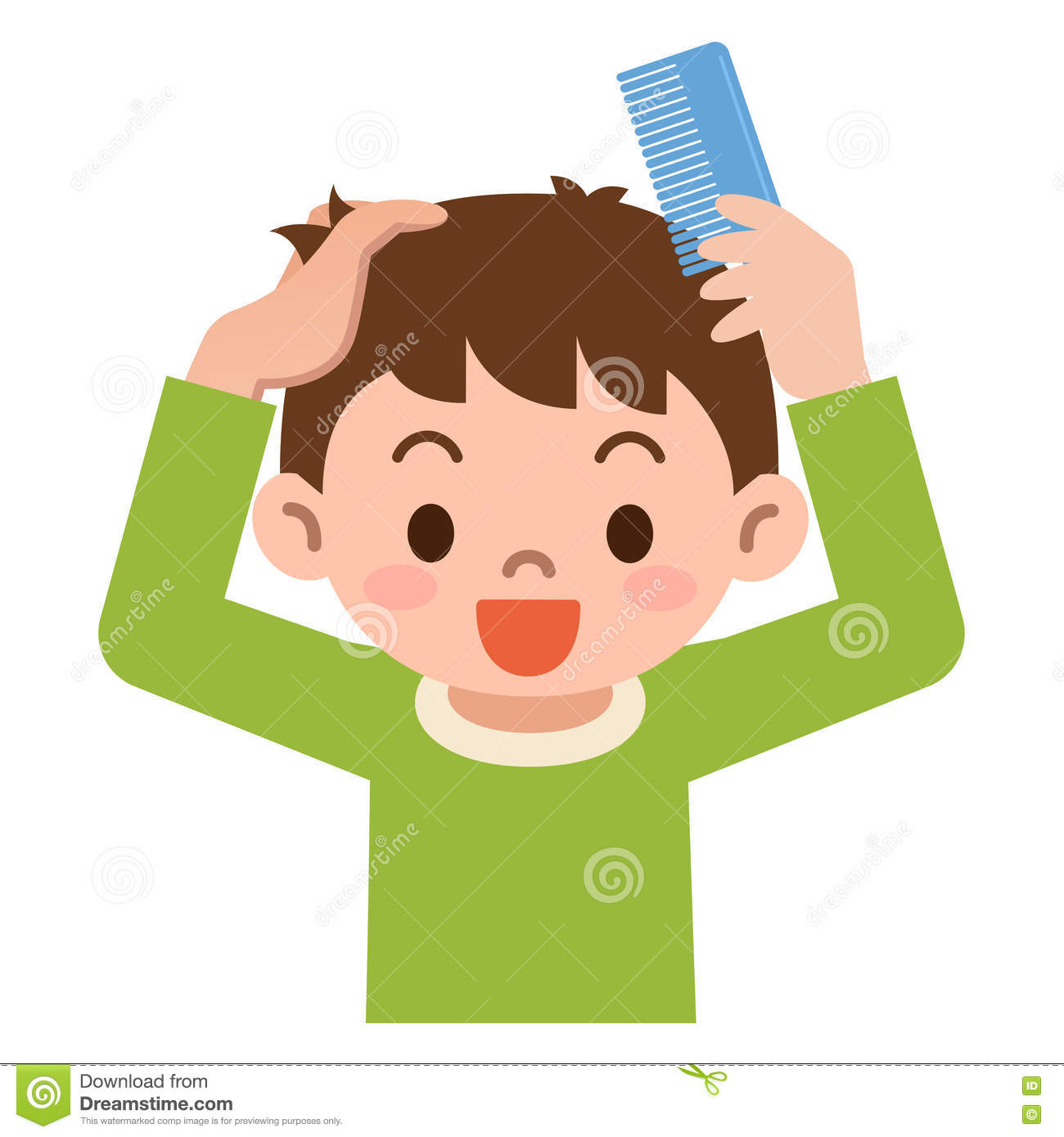 comb hair boy clipart clipground