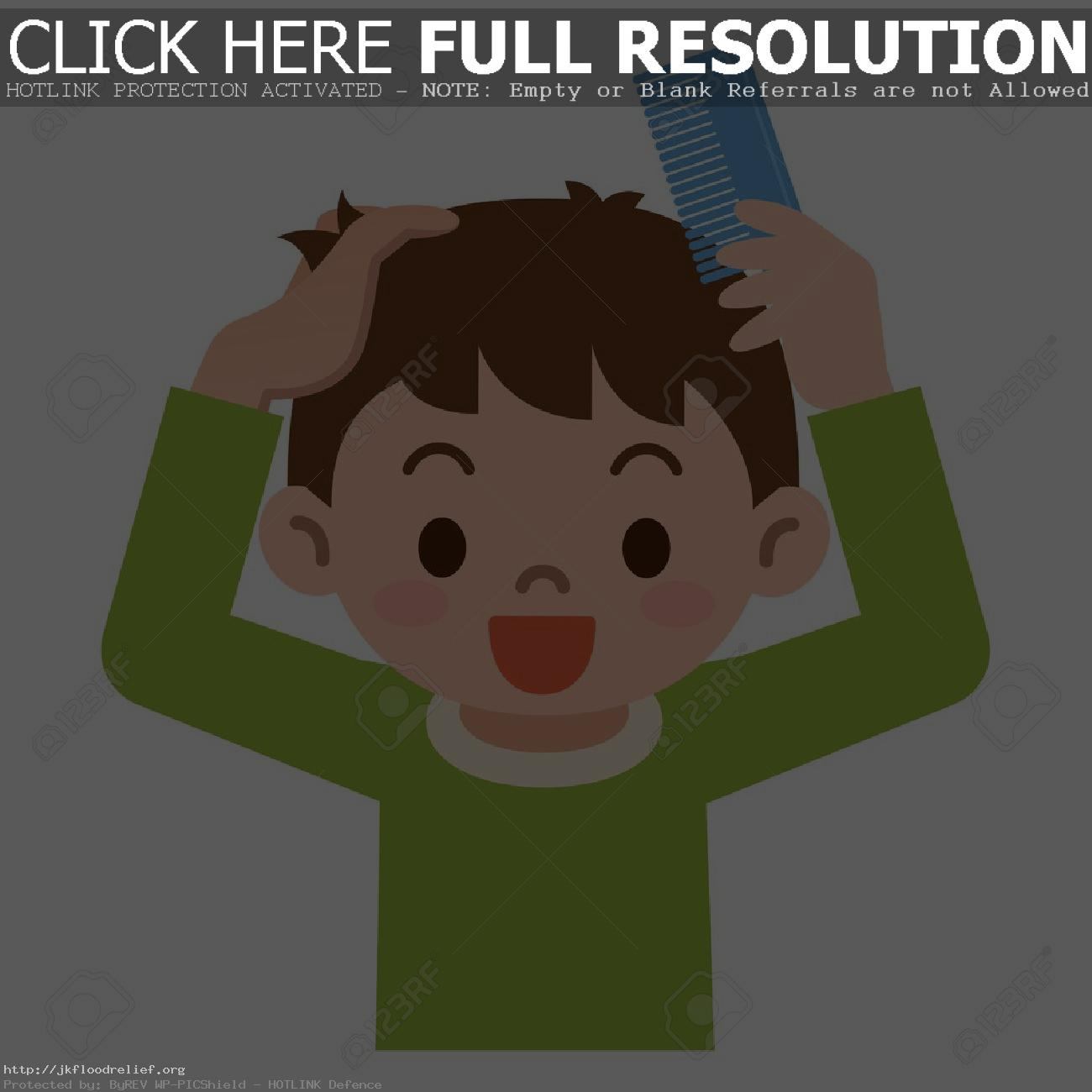 Boy Brushing Hair Clipart & Free Clip Art Images #14790.
