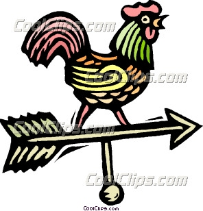 Wind direction rooster Clip Art.