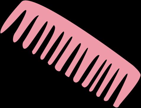 Pink Hair Comb Clip Art.