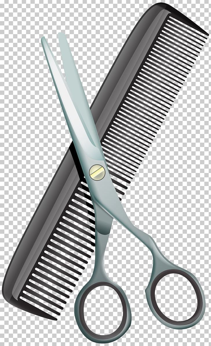 Comb Scissors Hair.