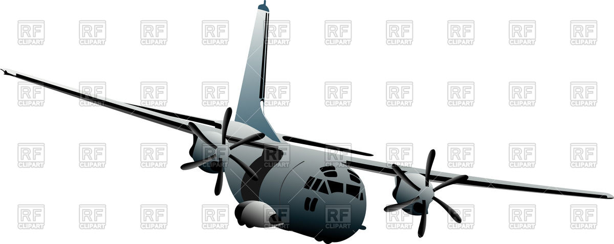 Old military aircraft (front view) Vector Image #56536.