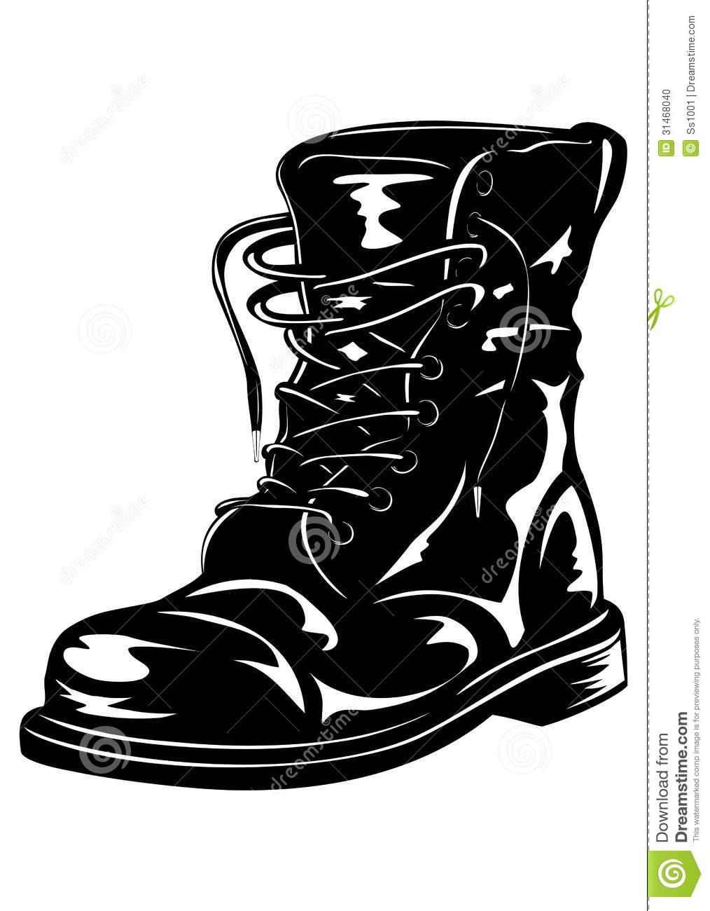 Combat boots clipart 5 » Clipart Station.