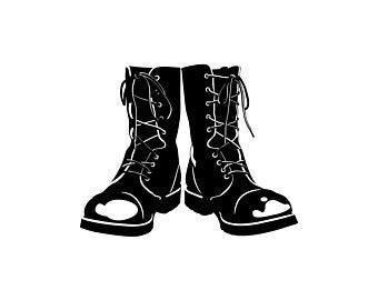 Combat boots svg.
