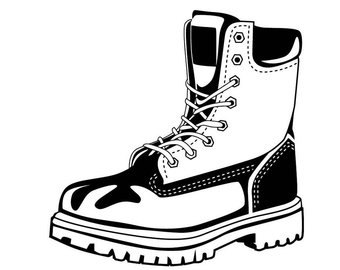 Combat Boots Drawing.