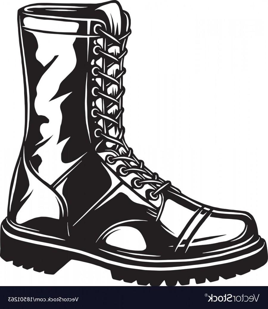 Combat Boots Cliparts 9.