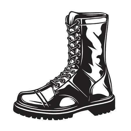 Combat boots clipart black and white 1 » Clipart Portal.