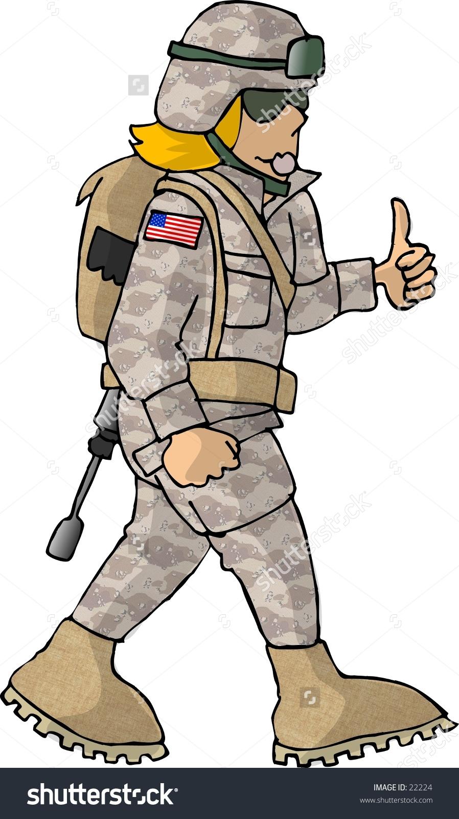 Soldier combat clipart.