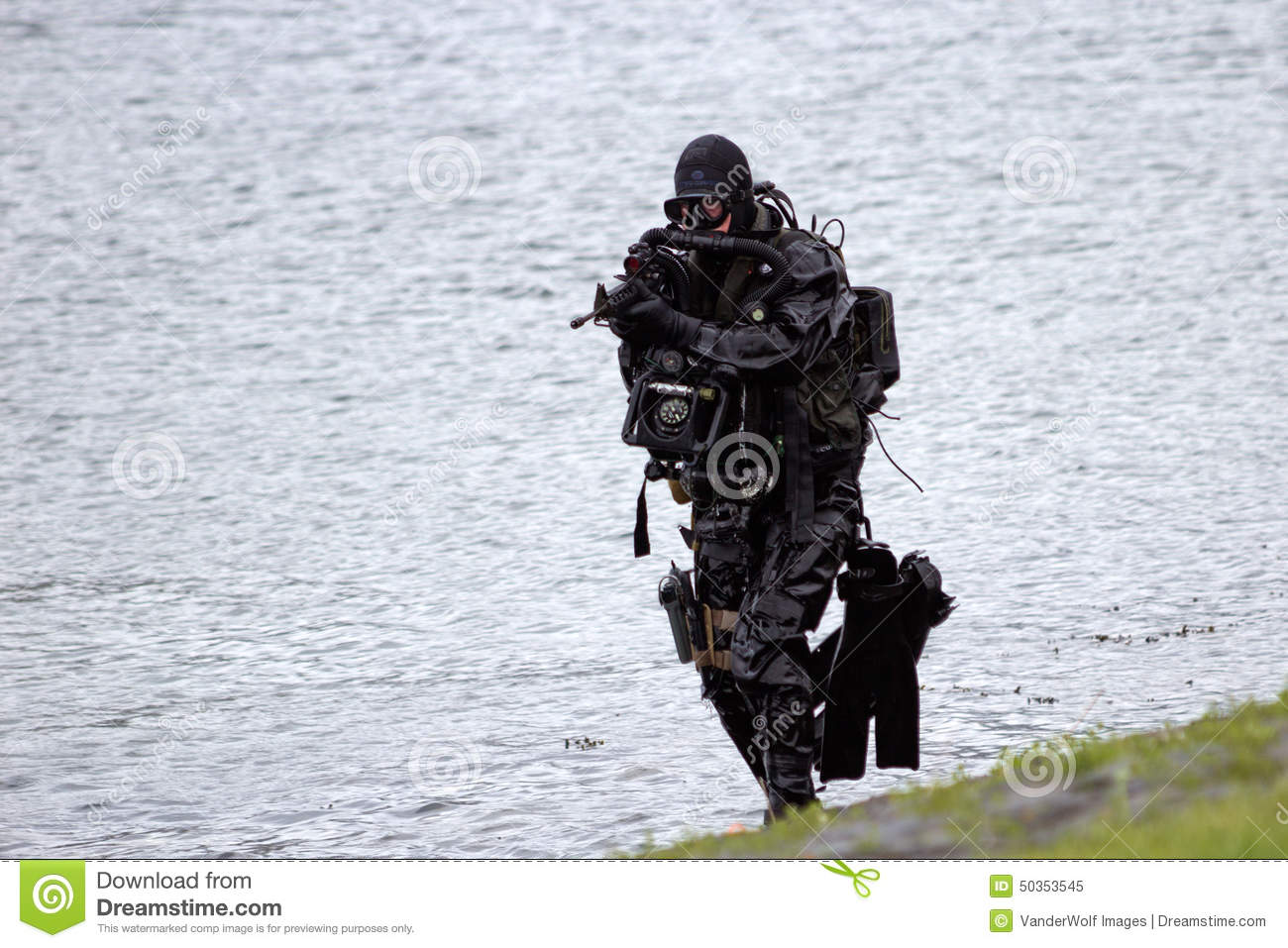 Special Forces Frogman Editorial Stock Photo.