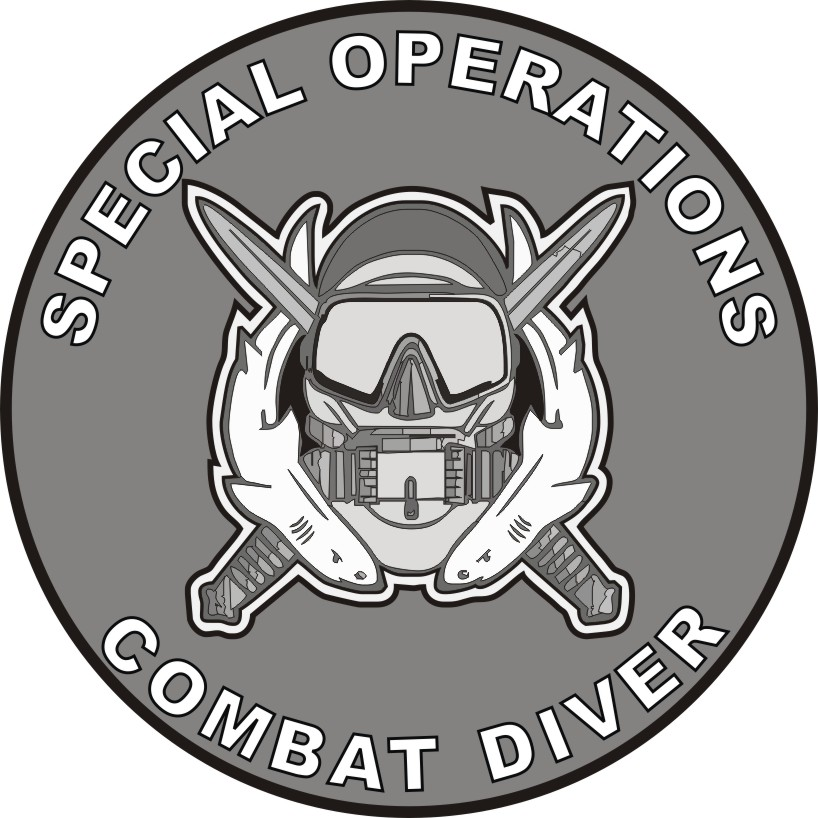 Special Forces Combat Diver 2 Decal.