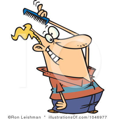 Brushing Hair Clipart.