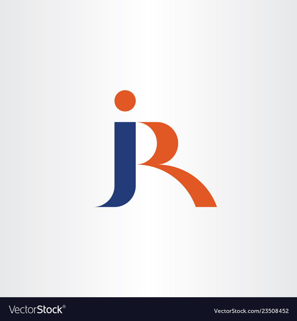 Letter j and r jr combination logo icon logotype.