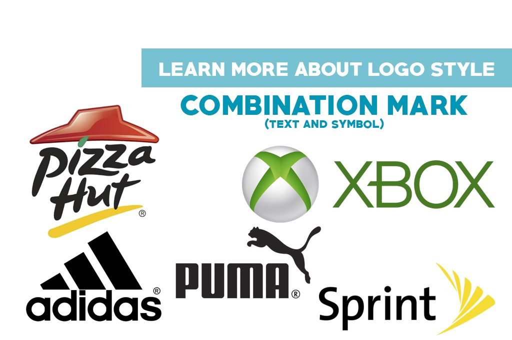 Combination Mark (Text and Symbol) 56% of the top brands.